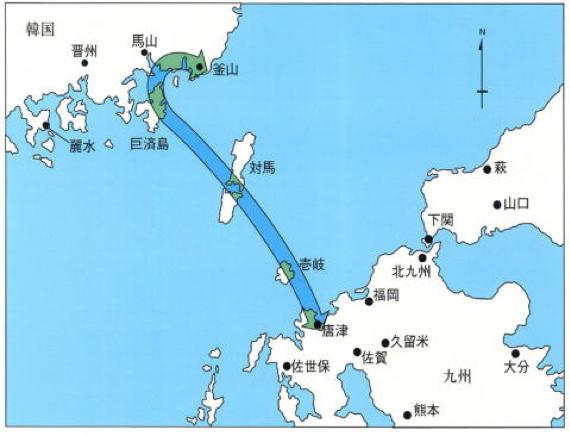 日韓トンネル平面図